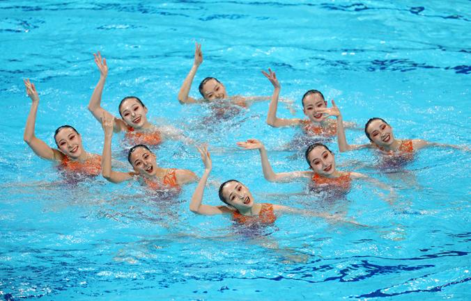 奥运联合队水中舞蹈 绽放十四运会